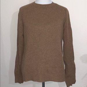 J. Crew 100% Wool Tan small Sweater